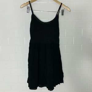 🛍2/$20: GARAGE Black Woven-Top Dress